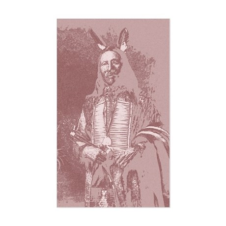 Native American Indian Rectangle Sticker