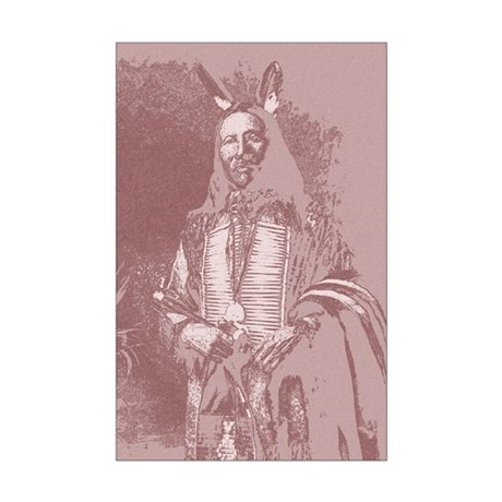 Native American Indian Mini Poster Print