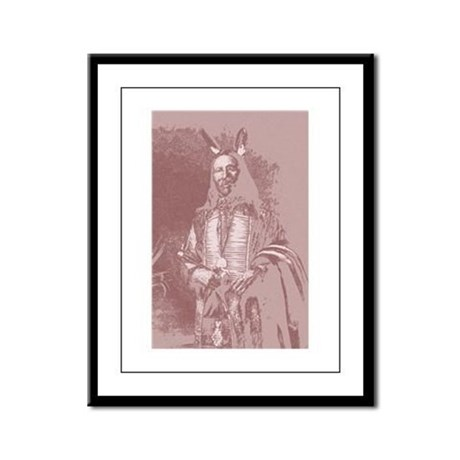 Native American Indian Framed Panel Print
