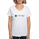 Olive Grandpa Women's V-Neck T-Shirt