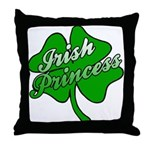 Shamrock Irish Princess Throw Pillow