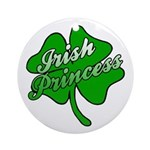 Shamrock Irish Princess Ornament (Round)