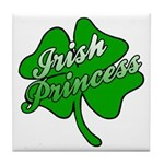 Shamrock Irish Princess Tile Coaster