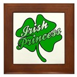 Shamrock Irish Princess Framed Tile