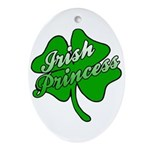 Shamrock Irish Princess Oval Ornament