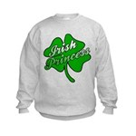 Shamrock Irish Princess Kids Sweatshirt