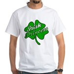 Shamrock Irish Princess White T-Shirt
