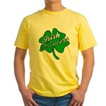 Shamrock Irish Princess Yellow T-Shirt