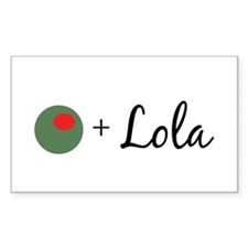 Olive Lola Rectangle Decal