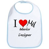 I Heart My Interior Designer Bib
