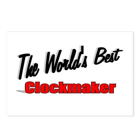 """The World's Best Clockmaker"" Postcards (Package o"