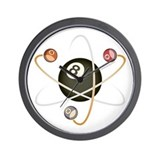 Billiard Atom Wall Clock