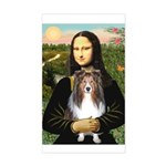 Mona Lisa's Sheltie (S) Sticker (Rectangle)