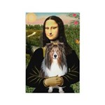 Mona Lisa's Sheltie (S) Rectangle Magnet