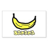 Banana Rectangle Decal