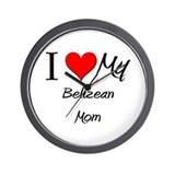 I Love My Belizean Mom Wall Clock