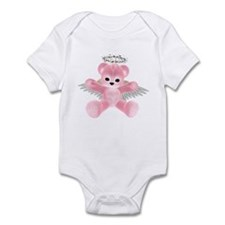 PINK ANGEL BEAR Infant Bodysuit