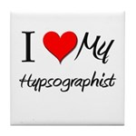 I Heart My Hypsographist Tile Coaster