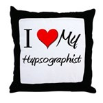 I Heart My Hypsographist Throw Pillow