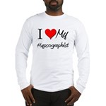 I Heart My Hypsographist Long Sleeve T-Shirt