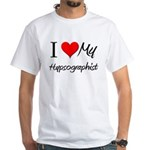 I Heart My Hypsographist White T-Shirt