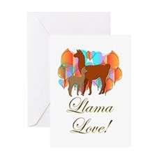 Llama Love! Greeting Card