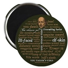 "Shakespeare Insults 2.25"" Magnet (10 pack)"