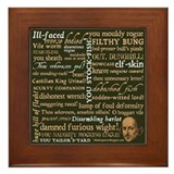 Shakespeare Insults Framed Tile