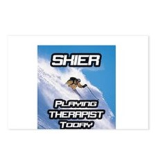 """""""Skier Playing Therapist Today"""" Postcards (Package"""
