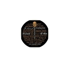 Shakespeare Insults Mini Button (10 pack)