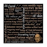 Shakespeare Insults Tile Coaster