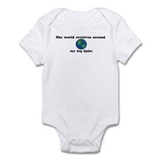 World Revolves Around Spike Infant Bodysuit