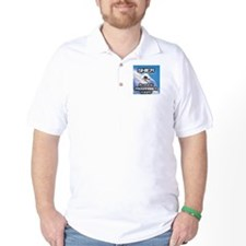 """""""Skier Playing Programmer Today"""" T-Shirt"""