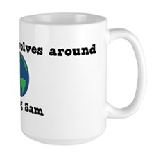 World Revolves Around Sam Mug