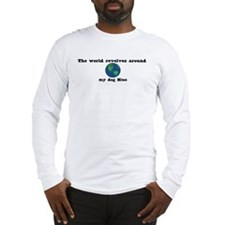 World Revolves Around Blue Long Sleeve T-Shirt
