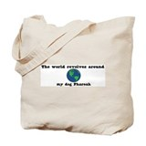 World Revolves Around Pharoah Tote Bag