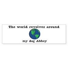 World Revolves Around Abbey Bumper Bumper Sticker