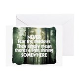 Never Fear The Shadows - Faith Greeting Cards (Pk