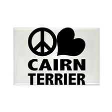 Peace Love Cairn Terrier Rectangle Magnet