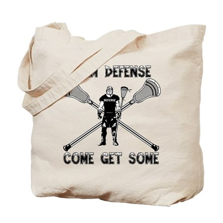 Lacrosse Defenseman Tote Bag