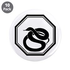 "Year Of The Snake 3.5"" Button (10 pack)"