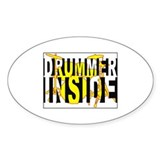 Drummer Inside Oval Decal