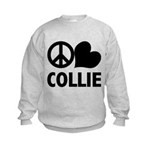 Peace Love Collie Kids Sweatshirt