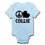 Peace Love Collie Infant Bodysuit