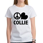 Peace Love Collie Women's T-Shirt