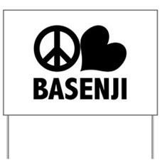 Peace Love Basenji Yard Sign