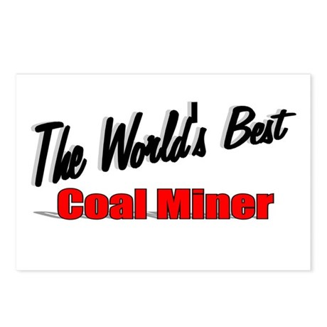 """The World's Best Coal Miner"" Postcards (Package o"