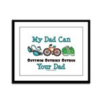 Dad Triathlete Triathlon Framed Panel Print