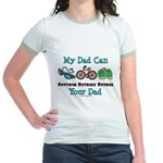 Dad Triathlete Triathlon Jr. Ringer T-Shirt