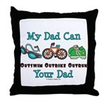 Dad Triathlete Triathlon Throw Pillow